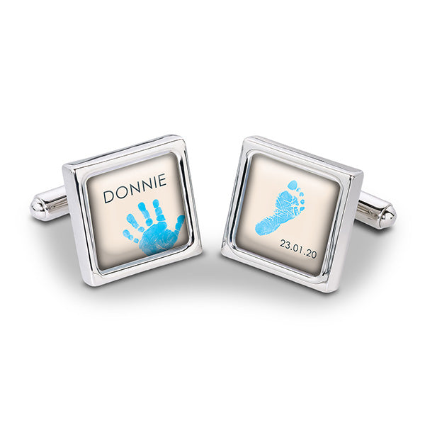 Baby Hands & Feet Cufflinks Blue