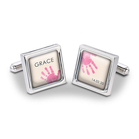 Baby Hands & Feet Cufflinks Pink