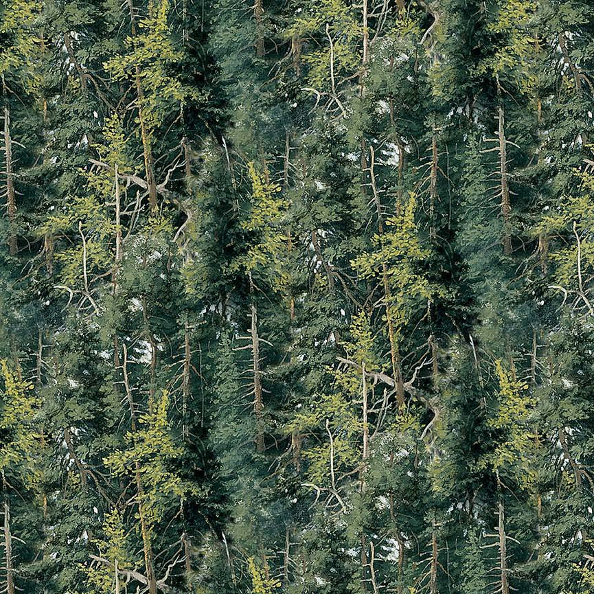 Naturescapes Flannel - Deep Forest