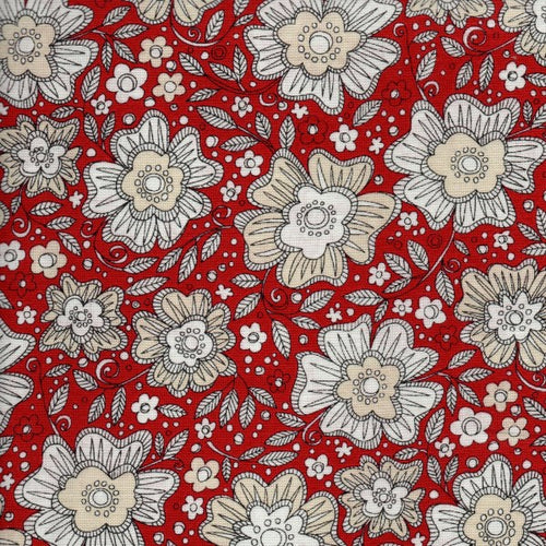 Love More - Red Floral