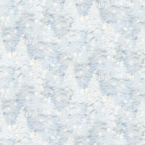 Enchanted Forest Flannel - Snow Trees