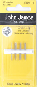 Quilting Needles (Size 11)