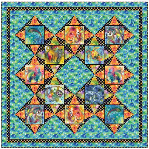 Living Wild - Throw Quilt Kit