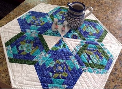 Hexagons in Paradise Table Topper Pattern