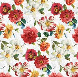 Rainbow Garden - Large Floral White