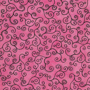 Flower Fantasy - Scrolling Vines (Pink)
