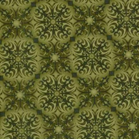 Shangri-La - Large Geometric Flower (Green)
