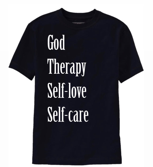 God Therapy Self-care Self-love tee