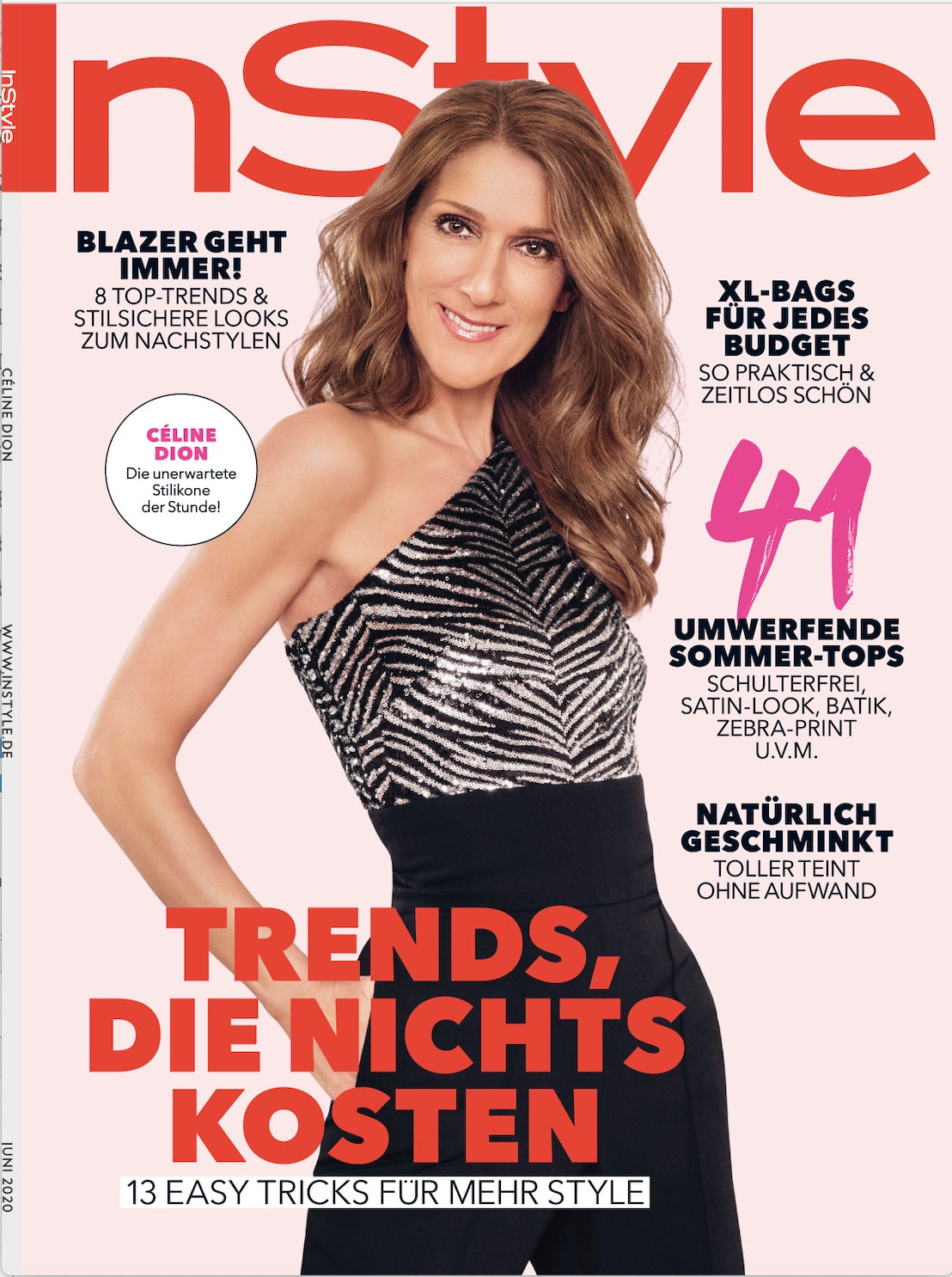 INSTYLE magazine Germany cover June 2020