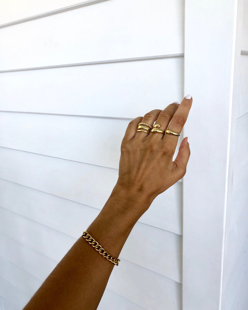 Ring Stack Of Four | 18K Gold Plated (Pre-Order)