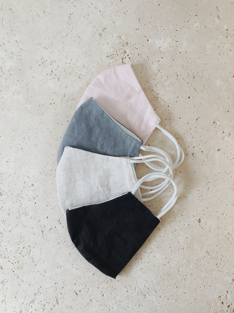 LINEN FACE MASK | Black