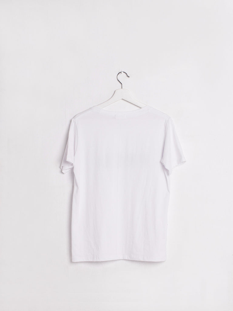Fred Logo T-Shirt weiss the bare sea