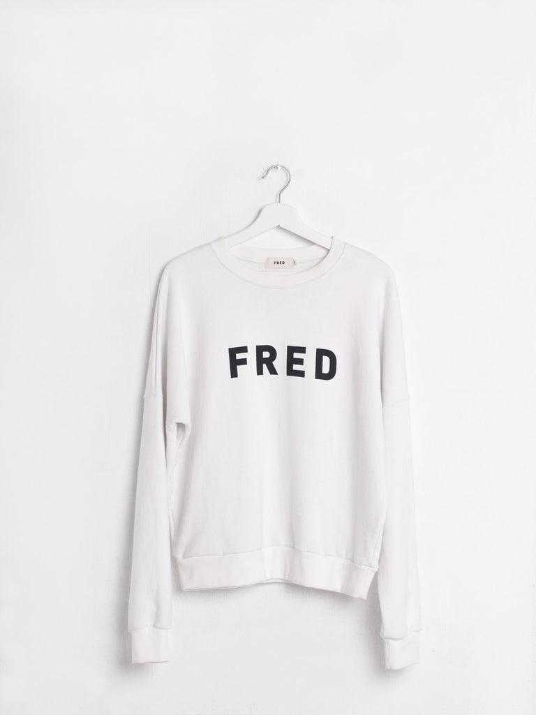 Fred Logo Sweatshirt weiss the bare sea