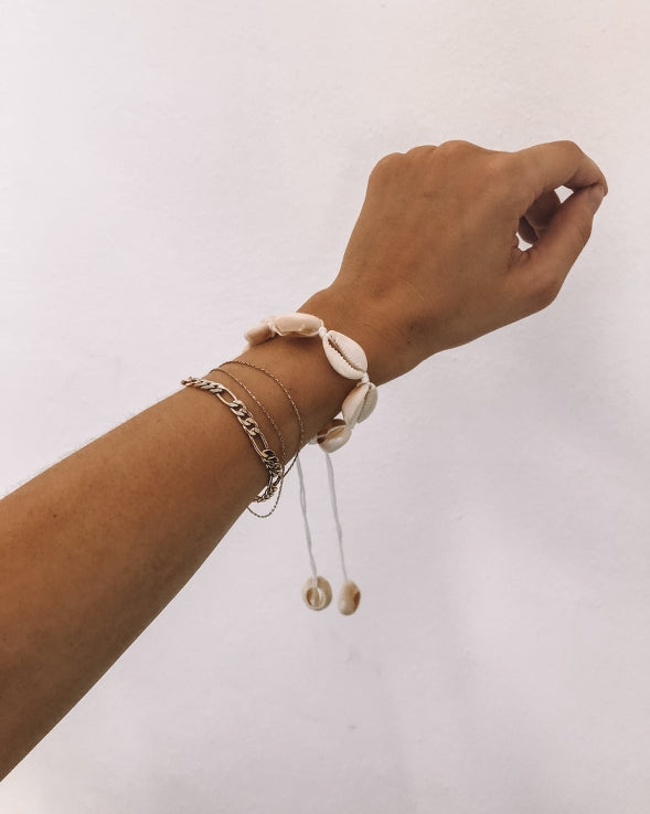 the bare sea cowrie shell bracelet anklet