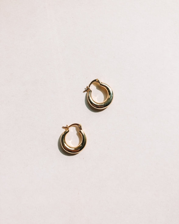 IZABEL Mini Hoops | 14K Gold Plated