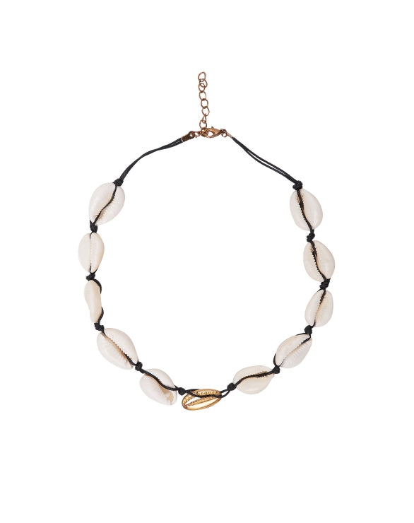 gold shell choker the bare sea