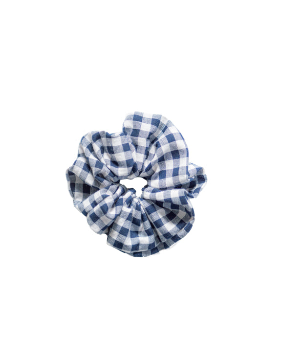 TEDDY Cotton Scrunchie Blue Gingham