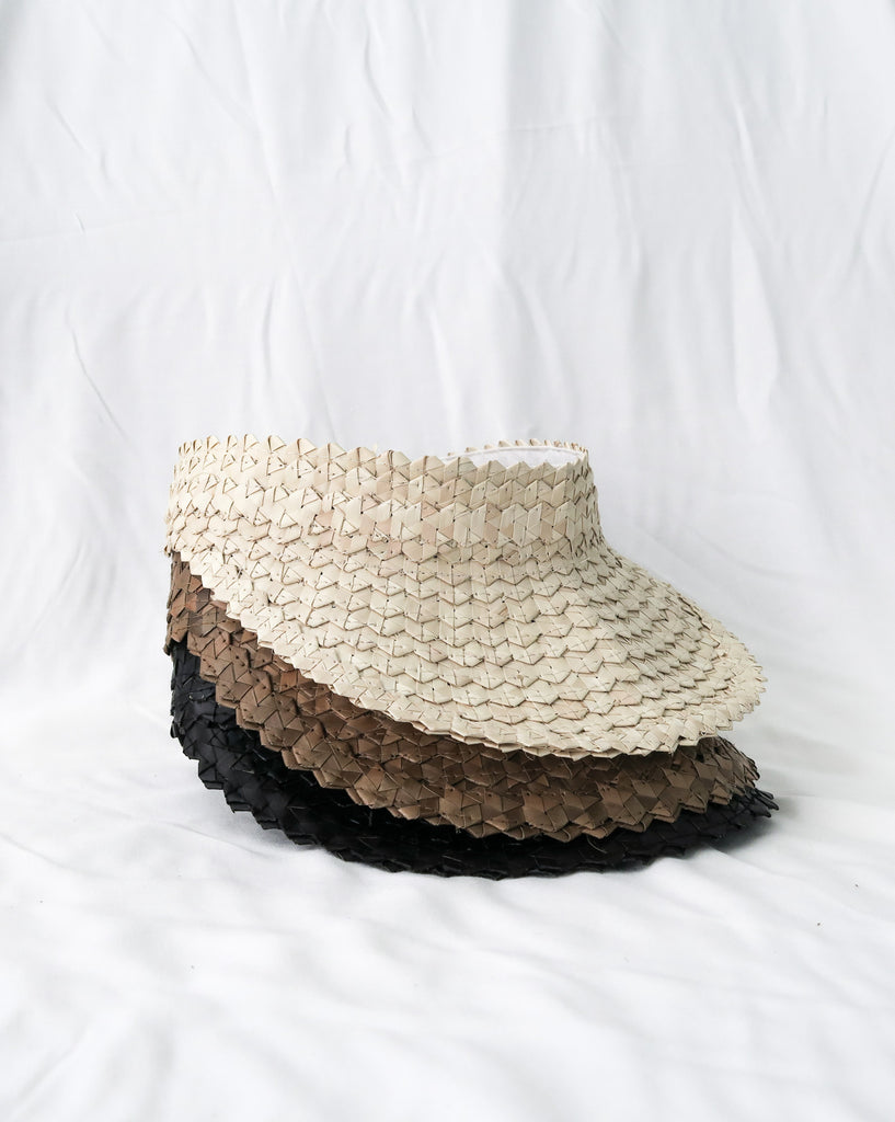Bali Rattan Visor Schirm the bare sea