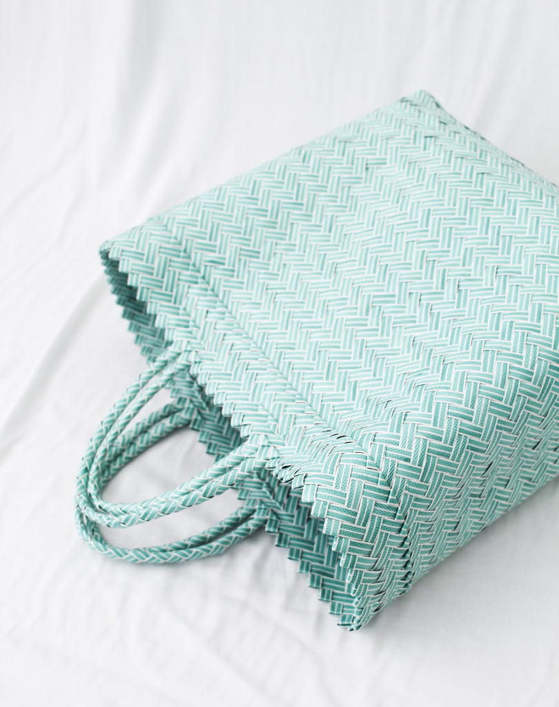 woven shopper recycled plastic the bare sea