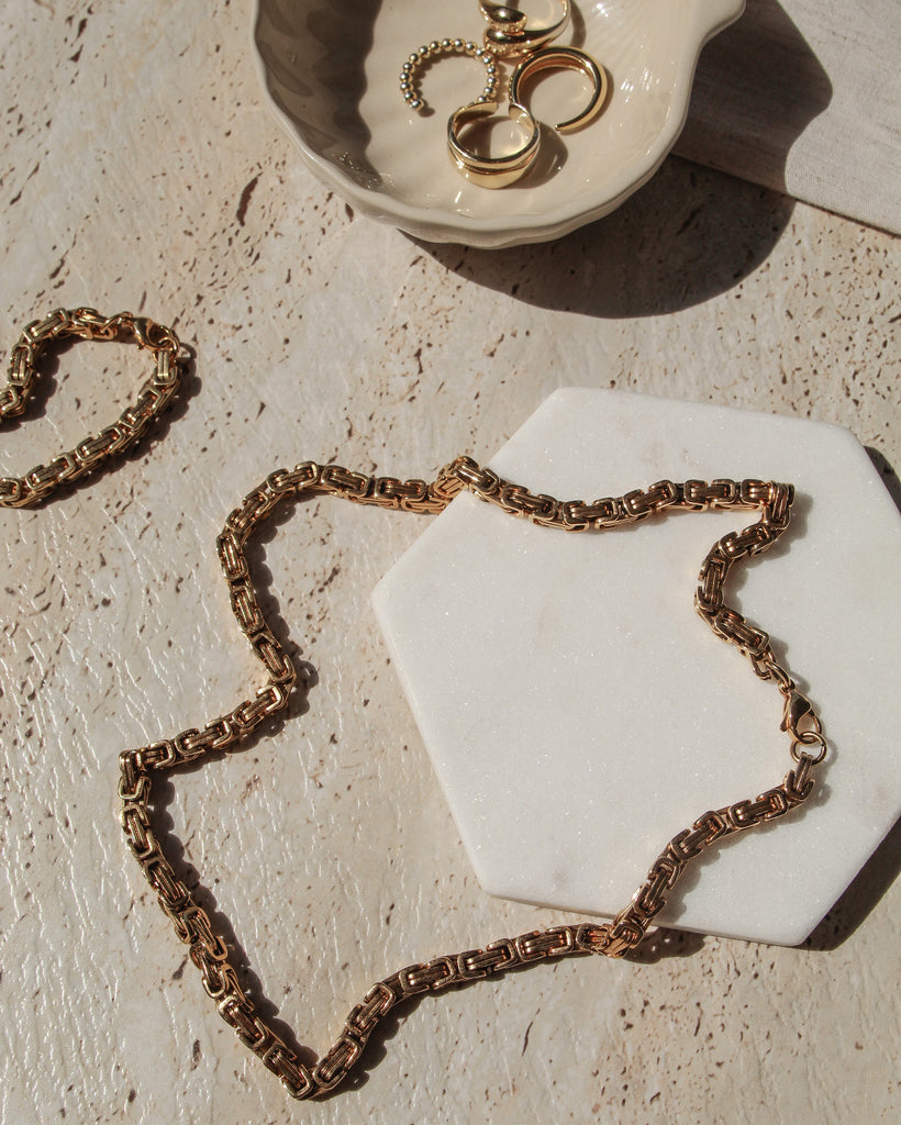 the bare sea 18K gold plated necklace