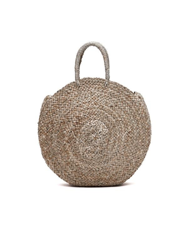 round woven rattan bali bag the bare sea