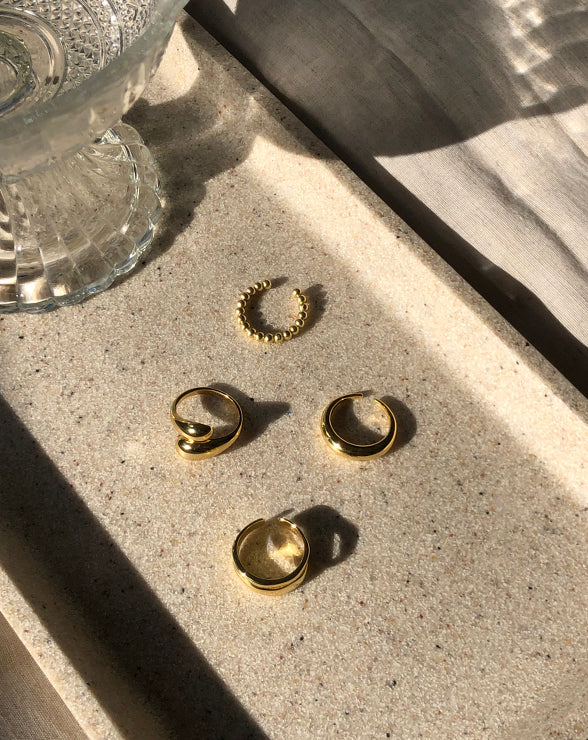 Ring Stack Of Four | 18K Gold Plated