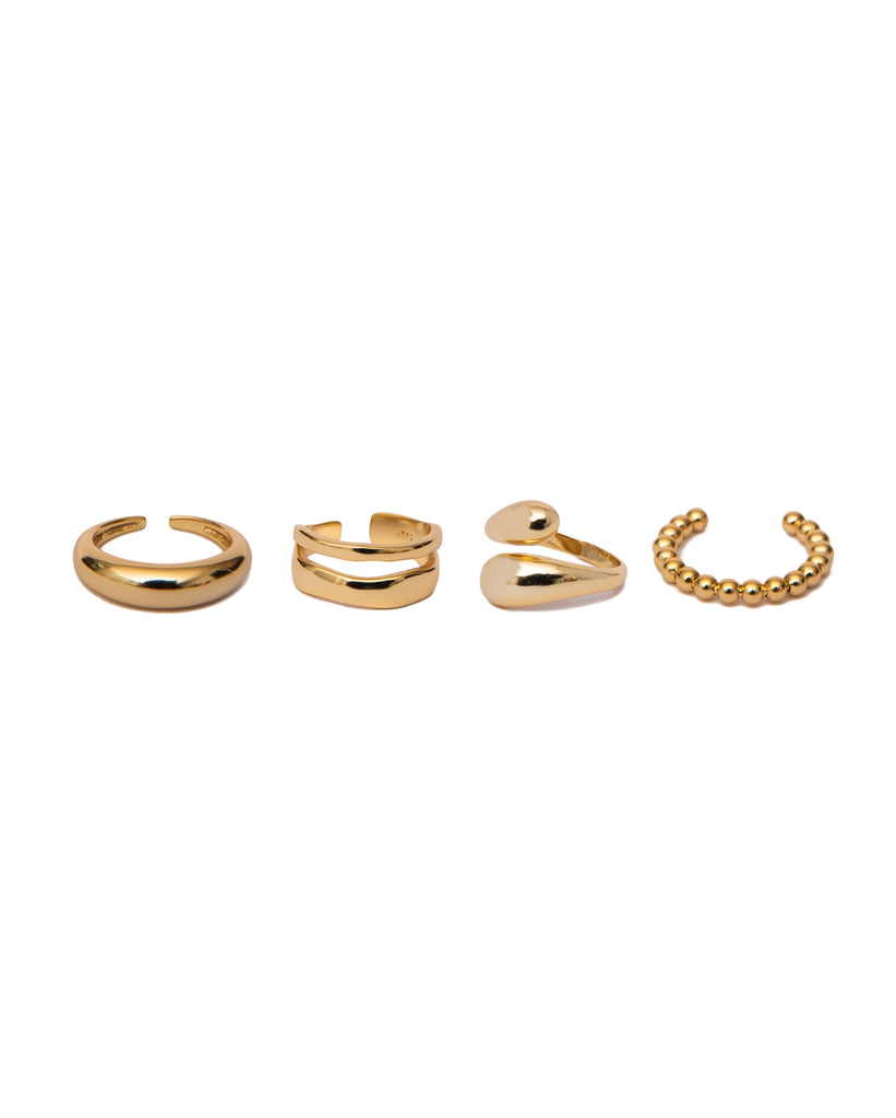 PRE-ORDER | Ring Stack Of Four | 18K Gold Plated