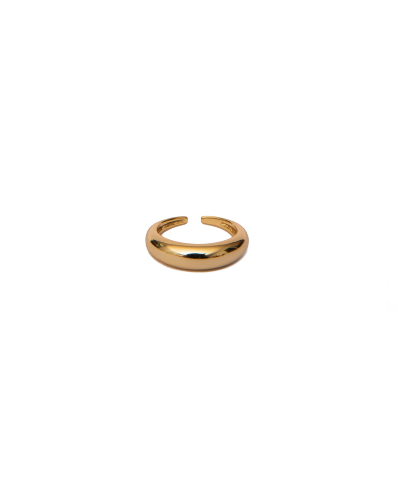 the bare sea 18K gold plated sterling silver chunky ring