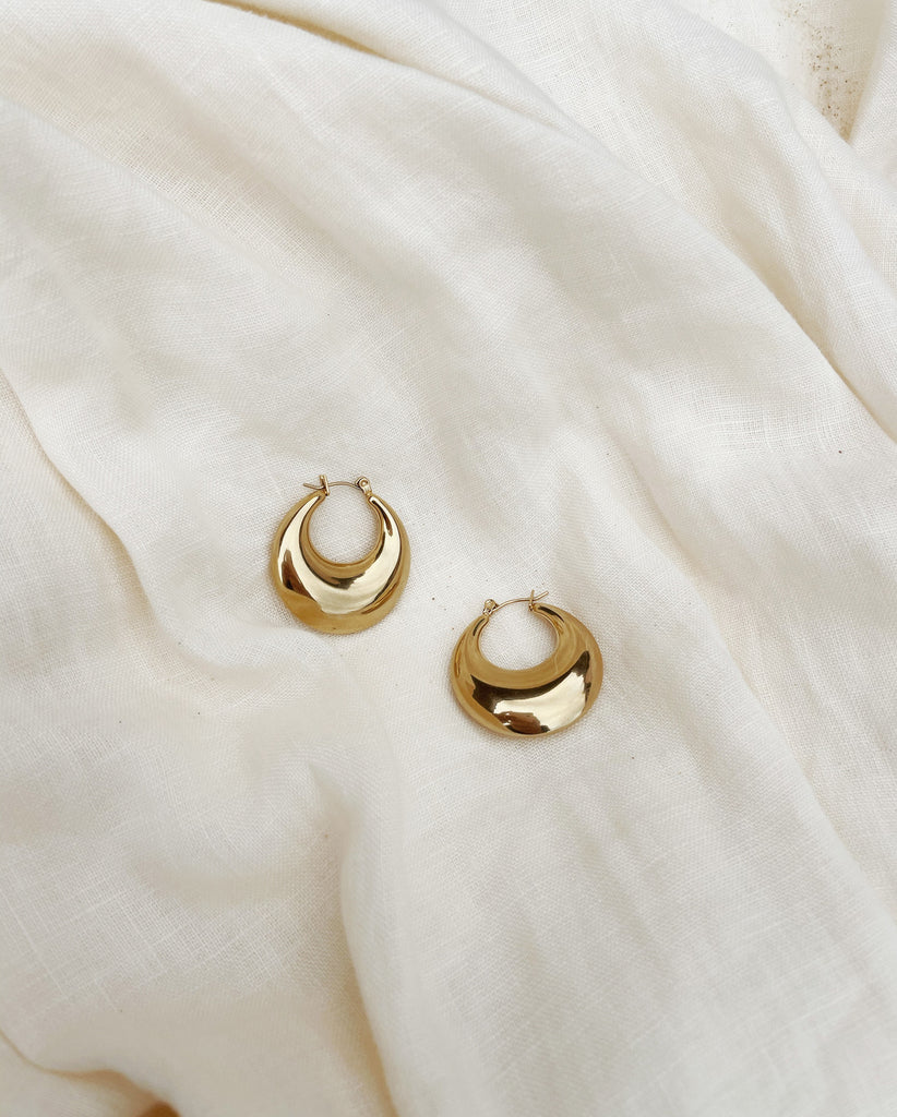 EVELYN Chunky Hoops  | 18K Gold Plated