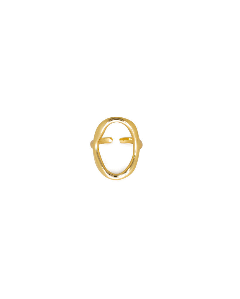 Oval Ring | 18K Gold Plated