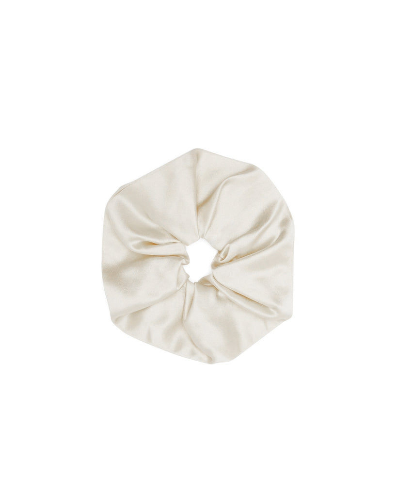 100% MULBERRY SILK SCRUNCHIE | IVORY