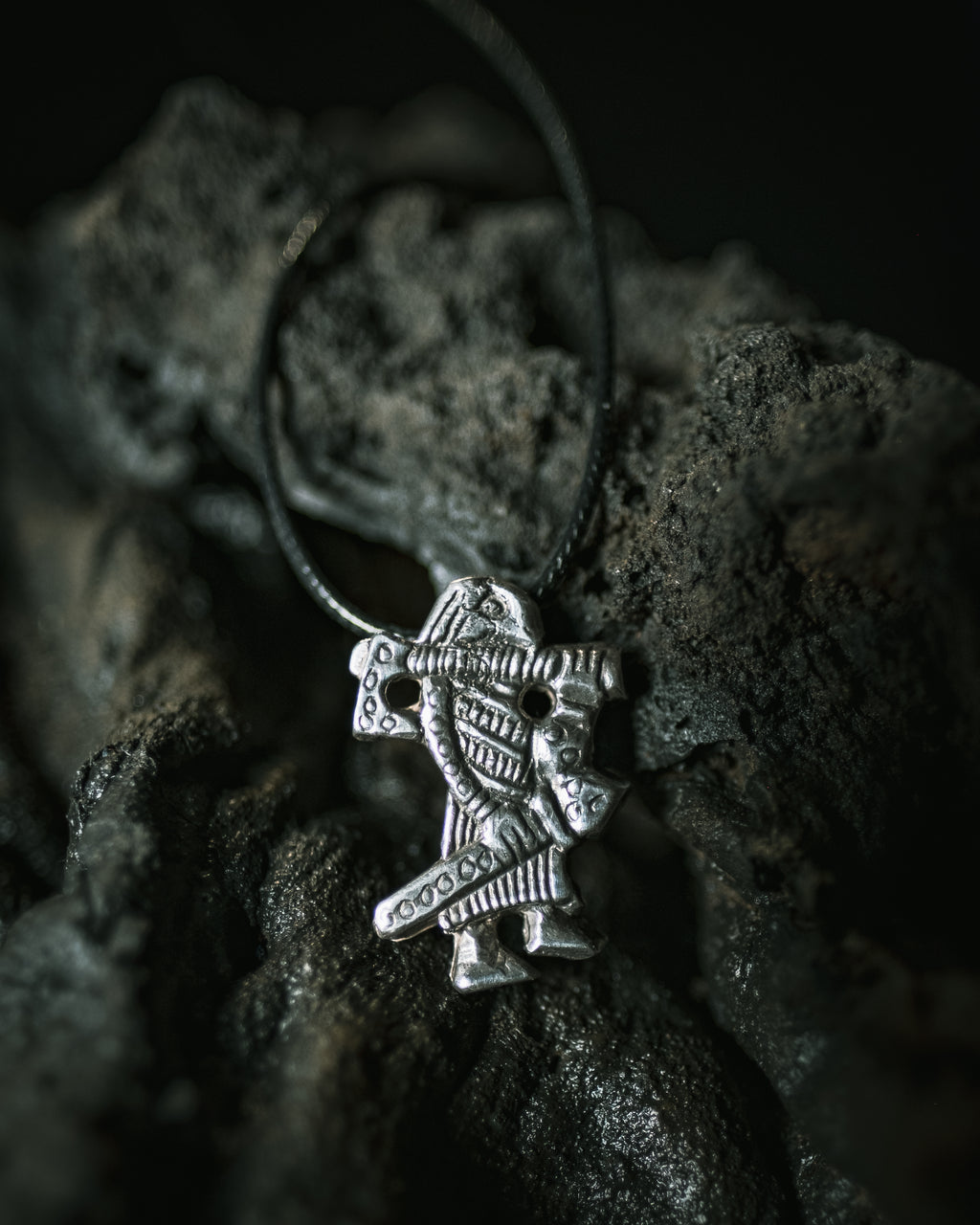 Klahammar Warrior Pendant  in Sterling Silver