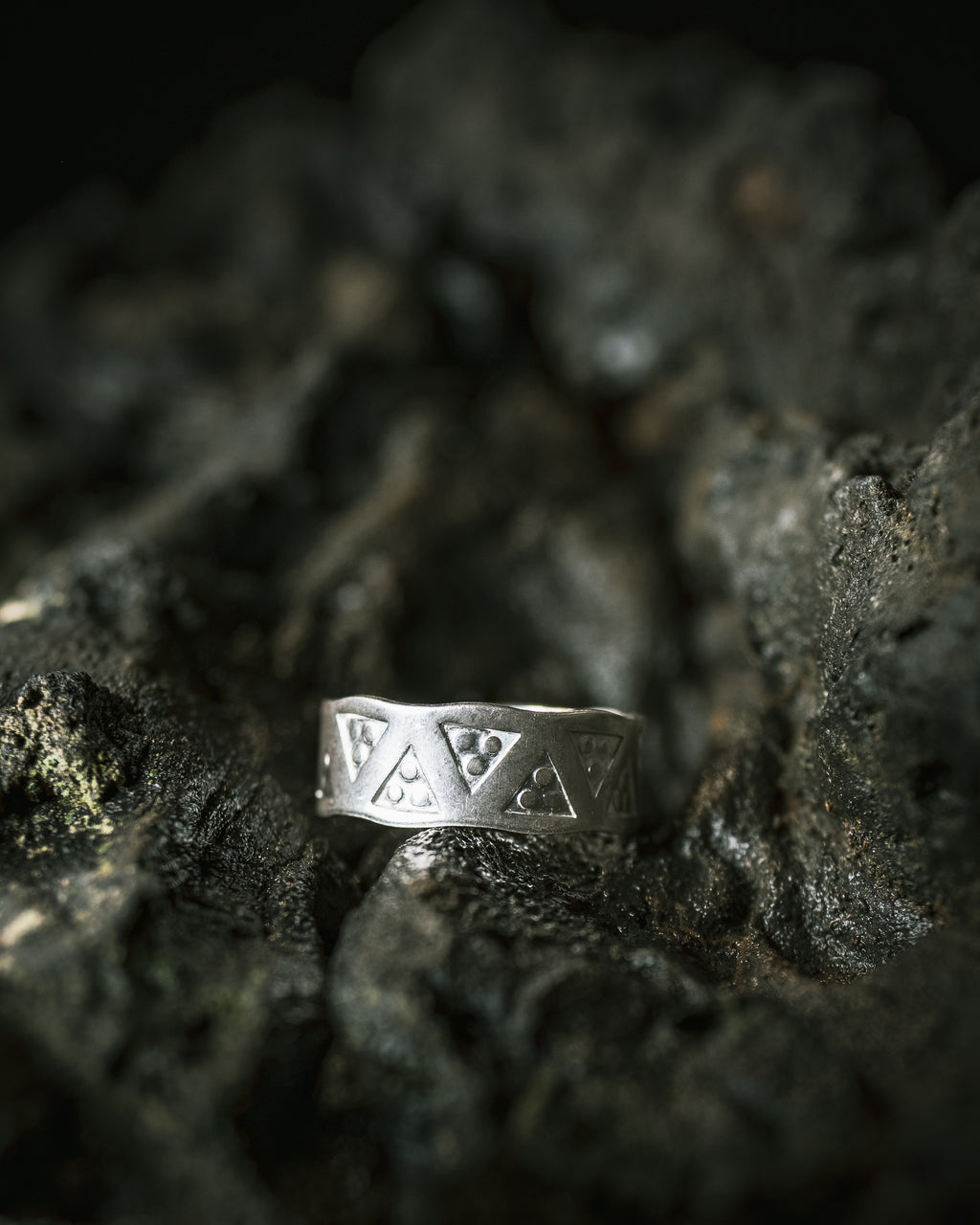 Sterling Silver Stamped Ring