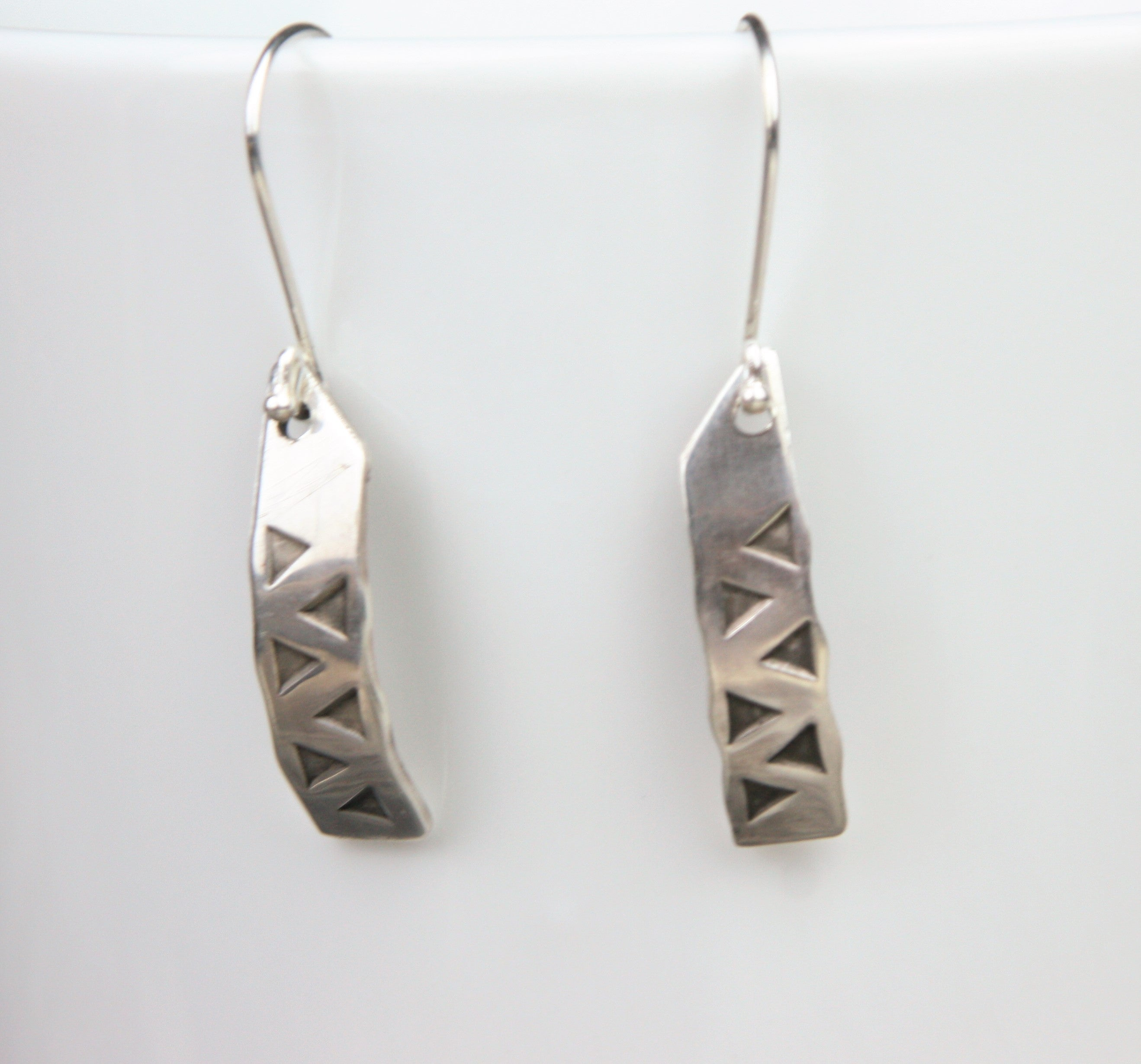 Hack silver earrings in sterling silver