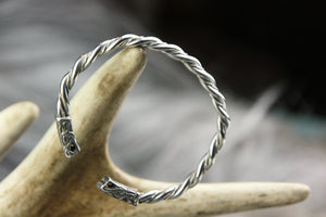 Small Gotland Style Arm Ring in Sterling Silver