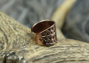 Bronze Hand Stamped Ring