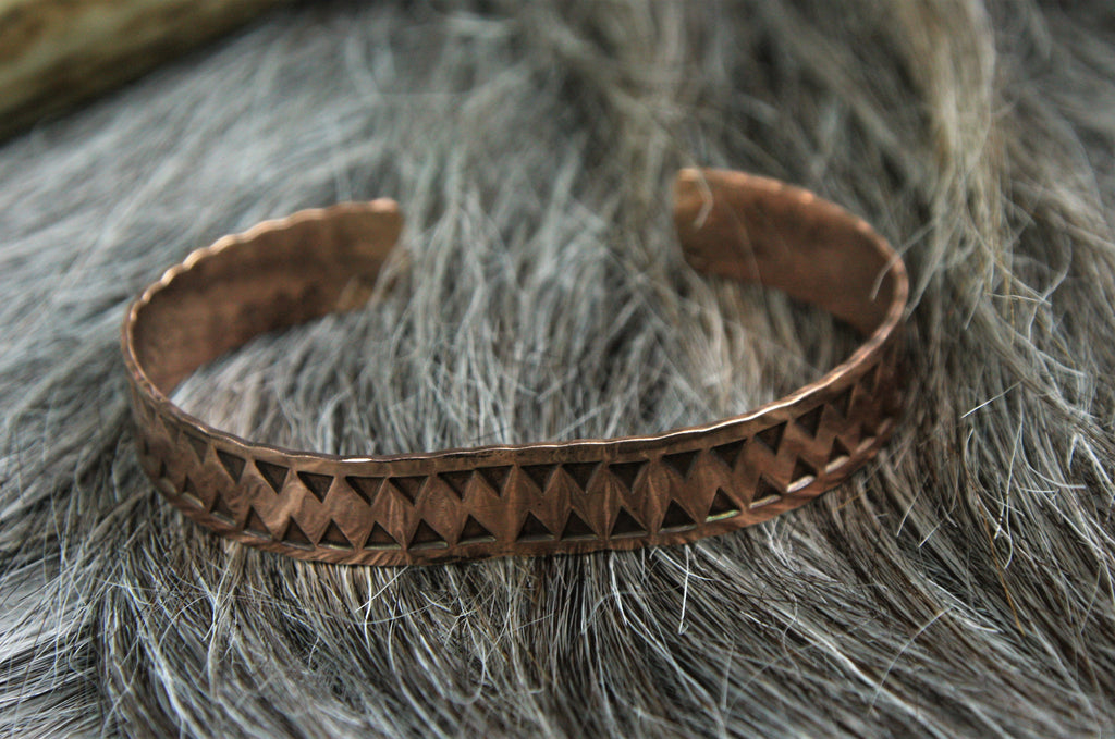 Stamped Viking bracelet
