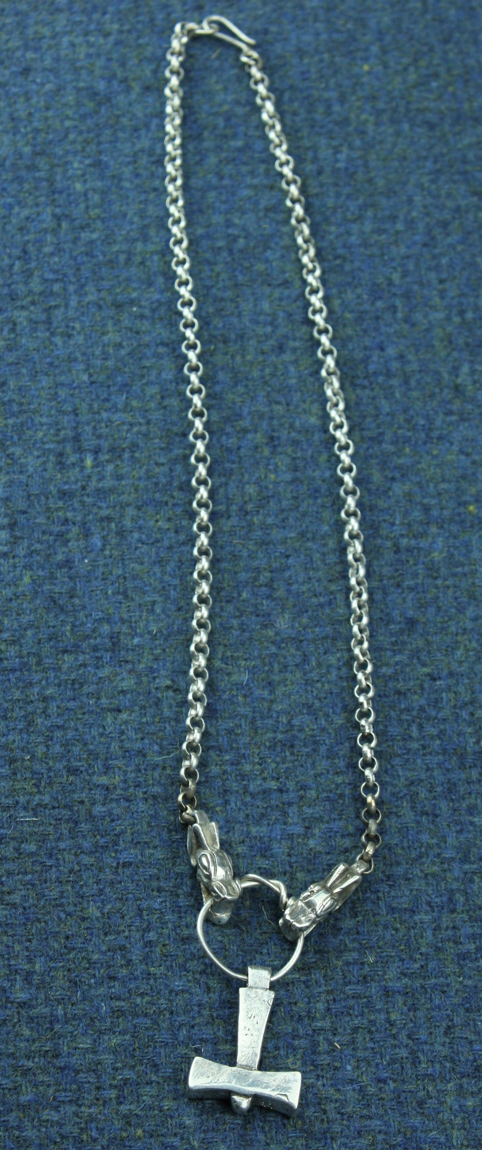 Medium Upsalla Hammer and Chain in Sterling Silver