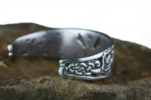 Sterling Silver Valknut Arm Ring