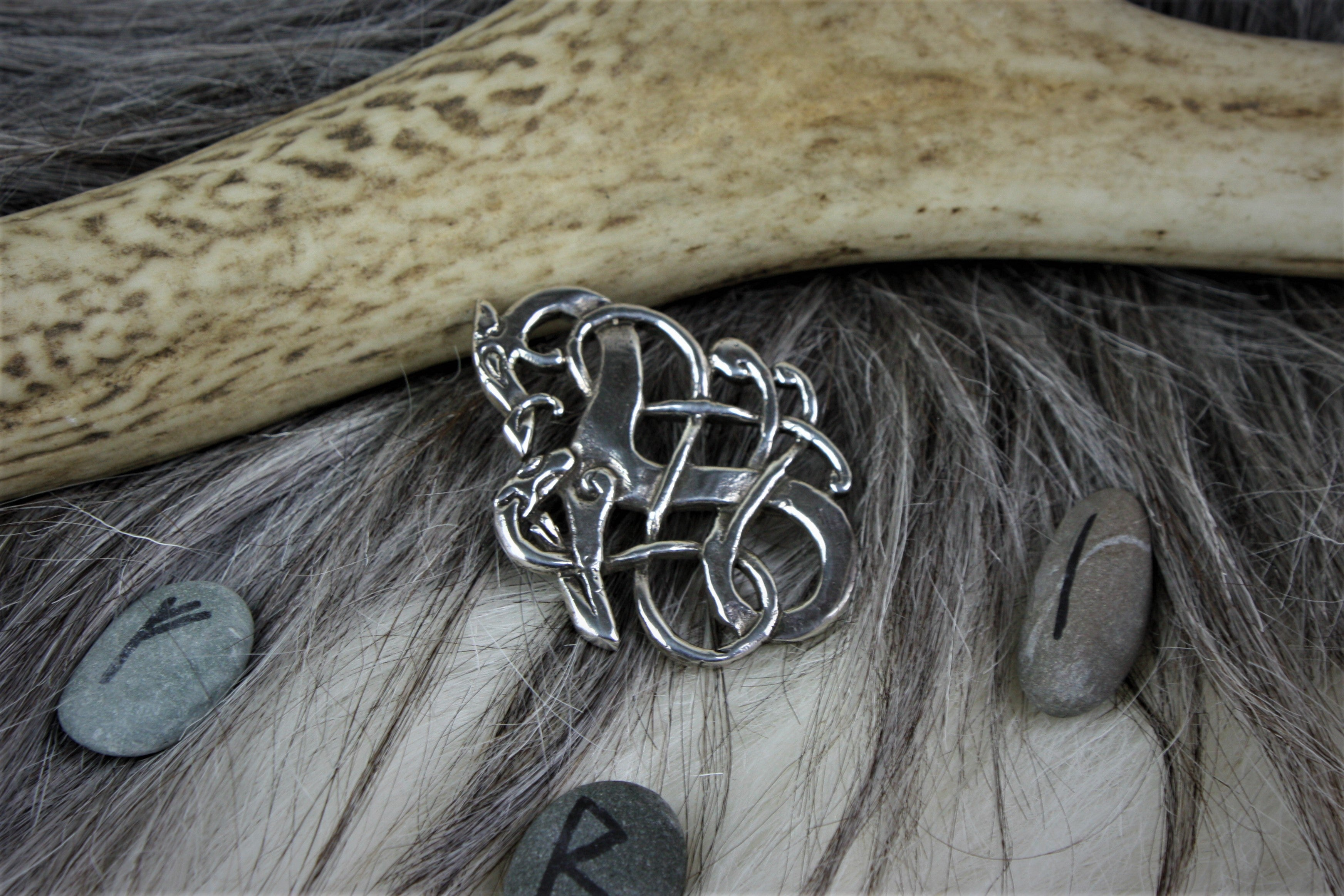 Urnes Style Brooch 2 in Sterling Silver