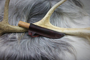 Reenactment knife and scabbard