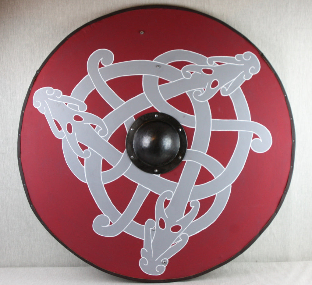 Three Dragons Shield in Red