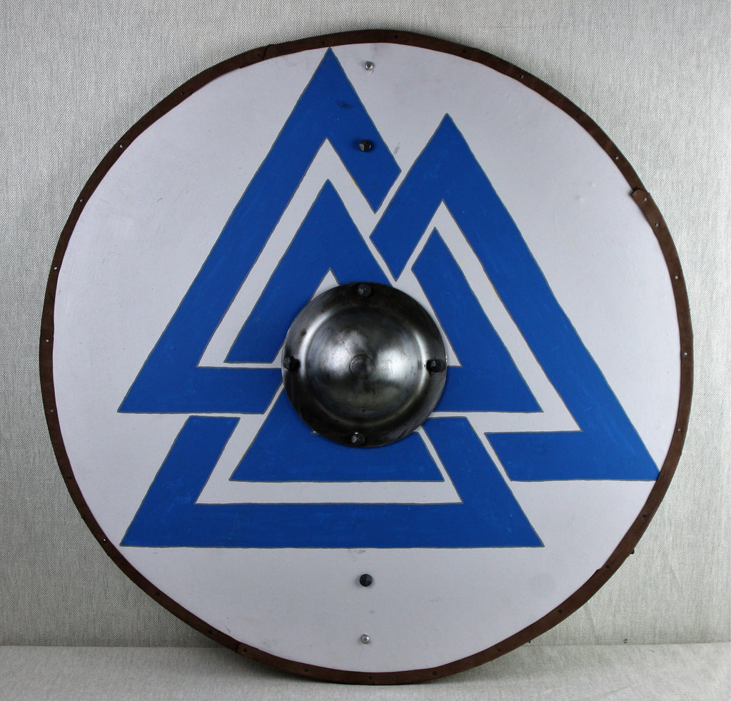 White Valknut Shield