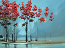 "Load image into Gallery viewer, ""Red Trees #2"" Giclee canvas print by Thomas Andrew"