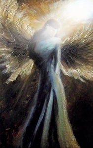"""A Comforting Light"" (Angels series) - Signed print by Thomas Andrew - Thomasandrewartwork"