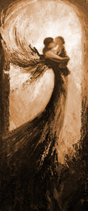 """A Guardian Angel #1"" sepia / Giclee canvas print by Thomas Andrew - Thomasandrewartwork"