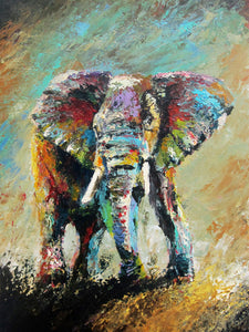 """A Powerful Force"" (Elephant series) - Signed print by Thomas Andrew - Thomasandrewartwork"