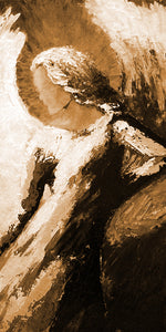 """Angel of Beauty"" sepia / Giclee canvas print by Thomas Andrew - Thomasandrewartwork"