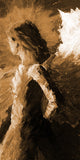 """Angel of Strength"" sepia / print by Thomas Andrew - ThomasAndrewArtwork"