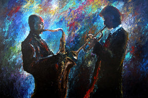 """Blowing Jazz"" Giclee canvas print by Thomas Andrew - Thomasandrewartwork"